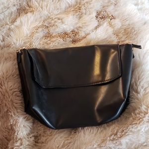 Black and Gold Purse - Fake Leather
